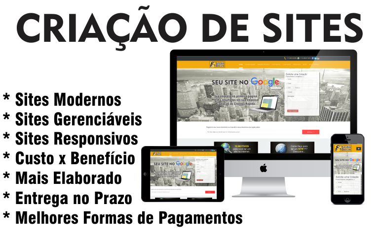 Criamos sites de para empresas