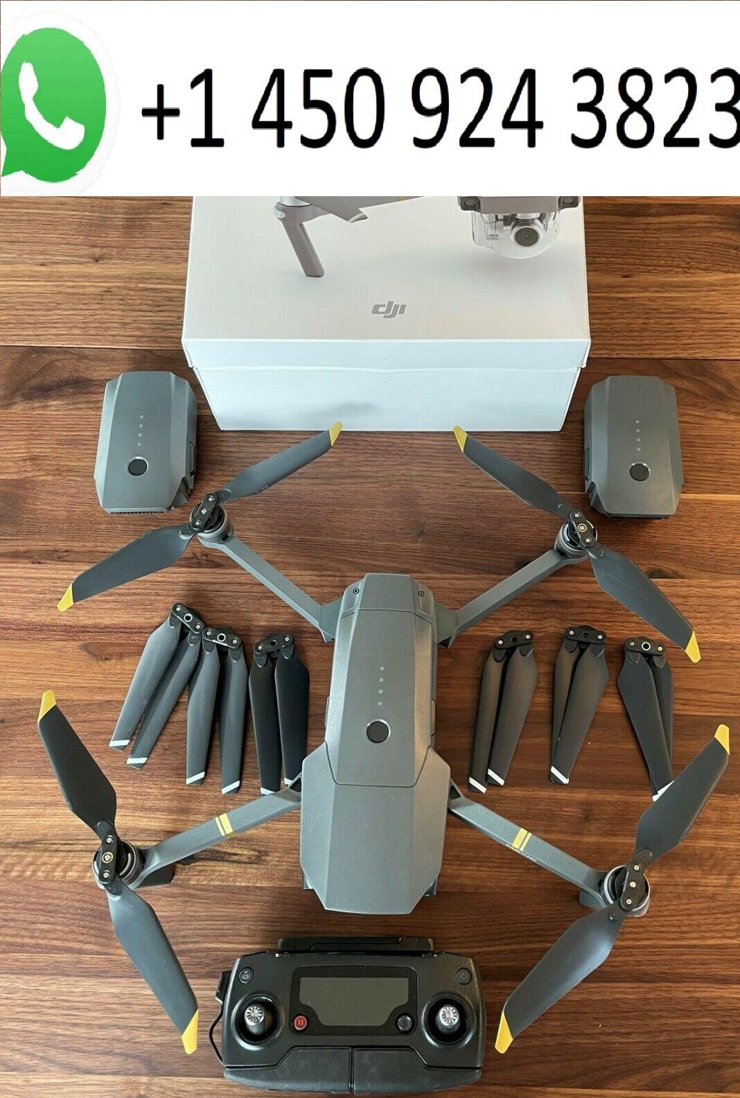 Novo drone DJI Mavic Pro Platinum Fly com acessórios